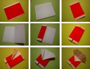 Как сделать дед мороза из бумаги (22)