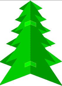 Как сделать новогоднюю елку (7)