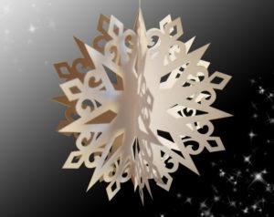 Объёмные снежинки (15)