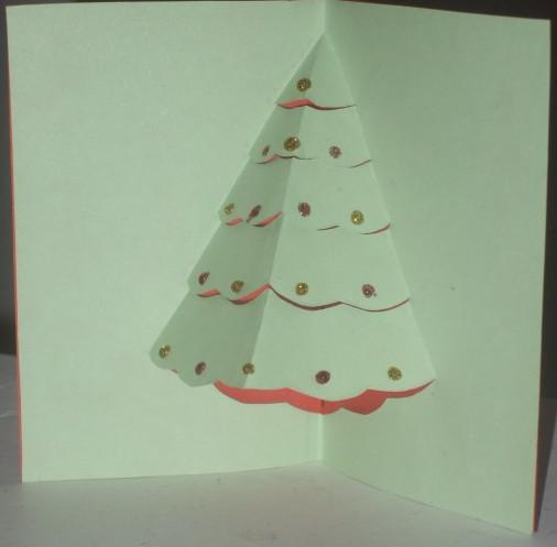 Новогодние открытки на елку своими руками