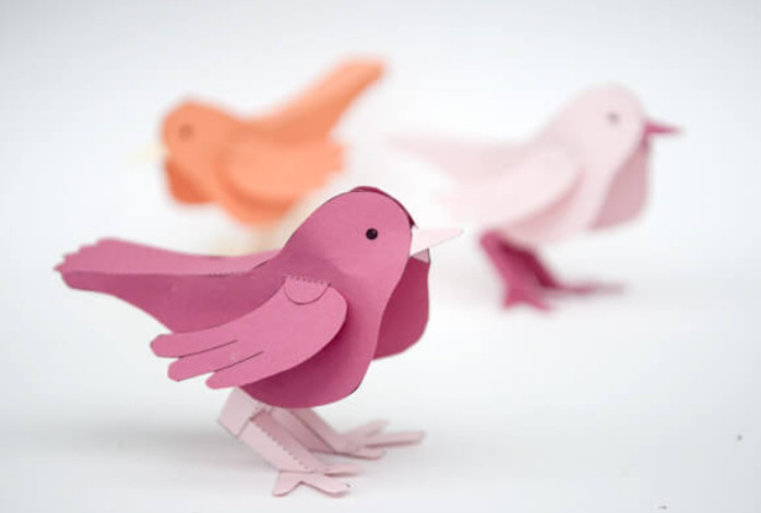 Птицы своими руками шаблоны из бумаги