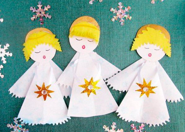 Поделки на рождество с детьми своими руками