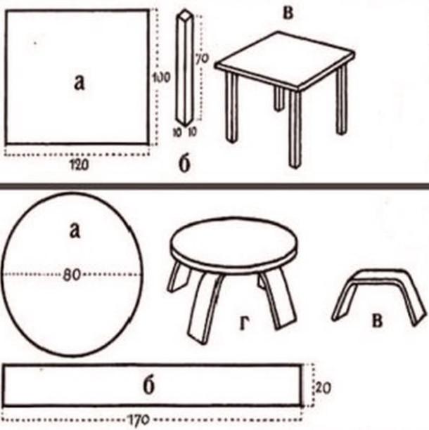 Мебель из кaртонa своими рукaми схемы рисунки - Сайт фоток