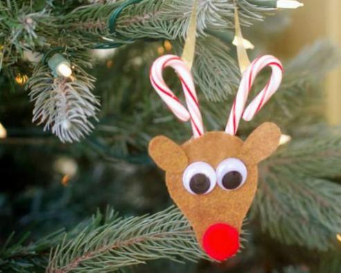 Идеи нарядов для новогодней красавицы, или Елочные игрушки из фетра...