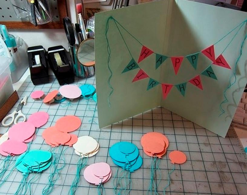 Днем, как сделать открытку из бумаги для сестры