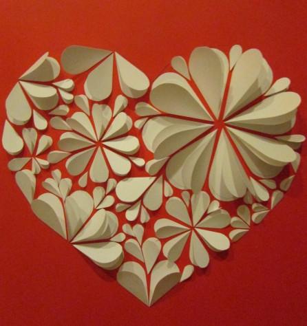 Бумажные сердечки своими руками 40