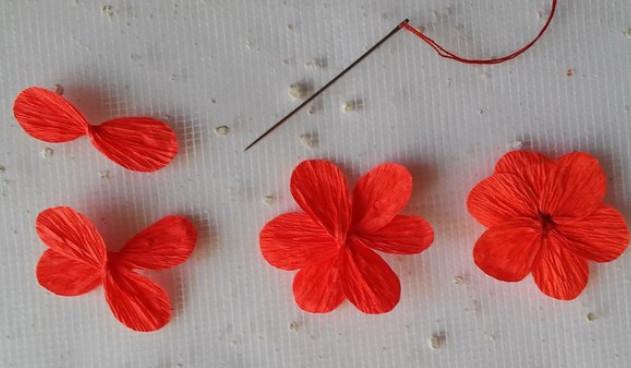 Открытка с цветком из гофробумаги, картинки