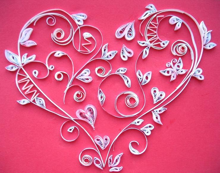 Открытки квиллинг сердечки