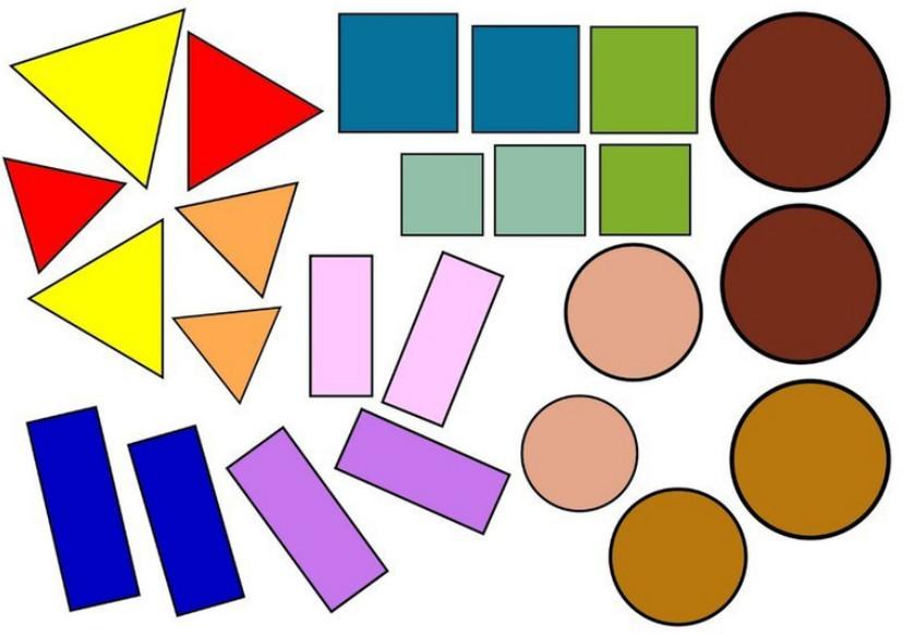 Геометрические фигуры в картинках для детей