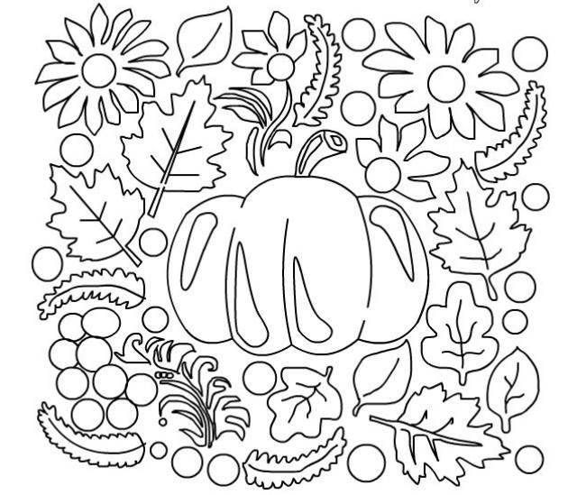 Девочке, картинки осень для детей раскраски обводки