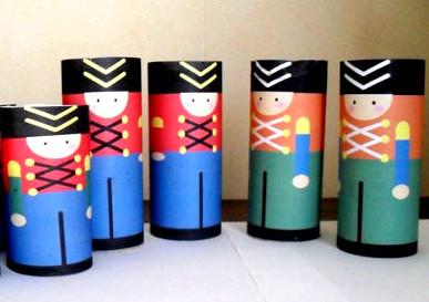 Солдатики из цветной бумаги своими руками из цилиндра