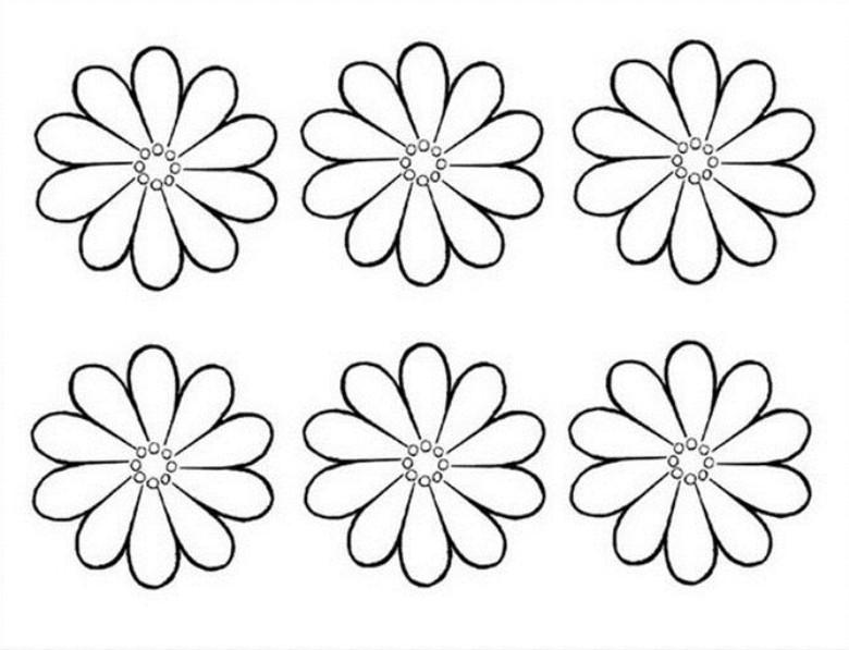Шаблоны цветов для вырезания из бумаги распечатать формат а4, анимация