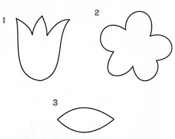 Обед, шаблон для открытки тюльпаны для вырезания из бумаги