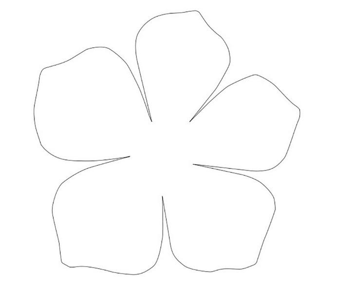 Трафарет цветка для вырезания из бумаги шаблоны распечатать, открытка