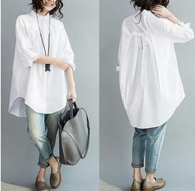Белые блузы, рубашки и...