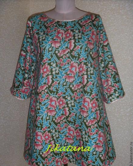 Домашнее платье без выкройки за 1 час... Хоть платье, хоть ночнушка!