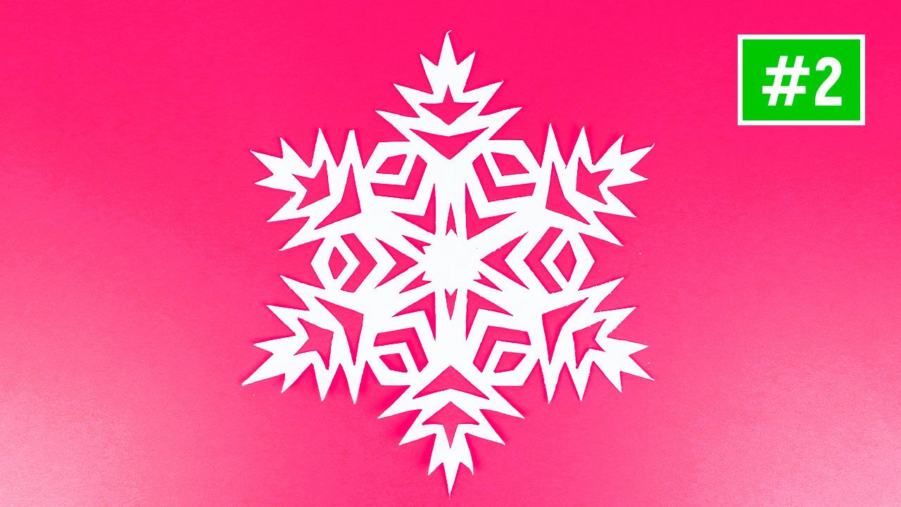 Как красиво вырезать снежинку из бумаги #2