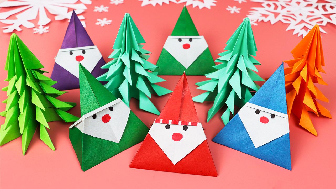 Как сделать Деда Мороза из бумаги / DIY Новый год