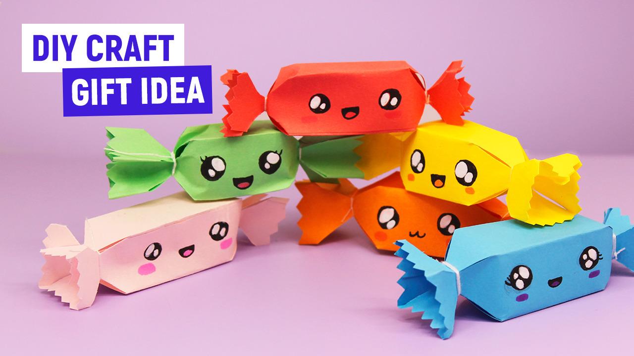 Кавайные конфеты из бумаги / Оригами для начинающих / Поделки из бумаги своими руками